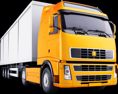 yellow truck cargo